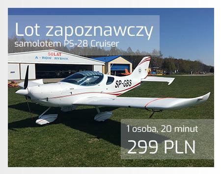 Loty zapoznawcze - samolot PS28 Cruiser
